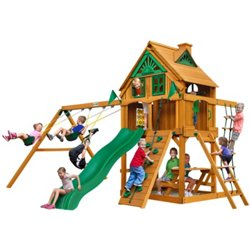 Chateau Tree House Cedar Swing Set with Fort
