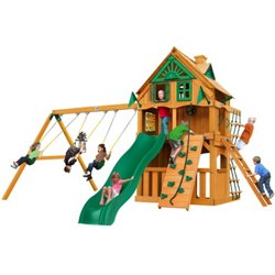 Chateau Clubhouse Tree House Cedar Swing Set with Fort