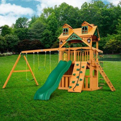 Gorilla Playsets Chateau Clubhouse Swing Set With Malibu Roof Academy