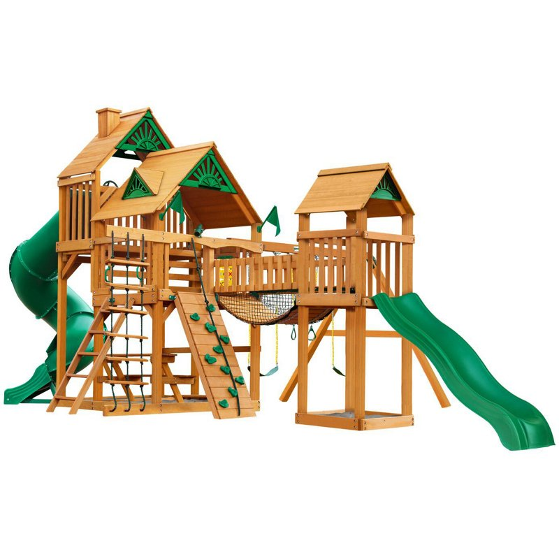 Gorilla Playsets Treasure Trove Cedar Swing Set - Swing Sets/Bounce Houses at Academy Sports