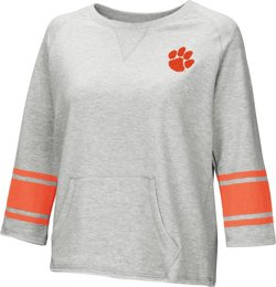 Colosseum Athletics Women's Clemson University Parallel 3/4 Sleeve Pullover