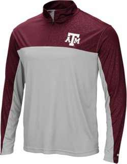 Colosseum Athletics Men's Texas A&M University Luge 1/4-Zip Windshirt
