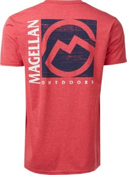 Magellan Outdoors Men's Square Wood Logo T-shirt
