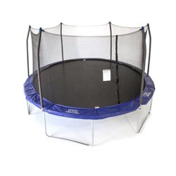 16 ft Oval Sports Arena Trampoline with Enclosure and Games