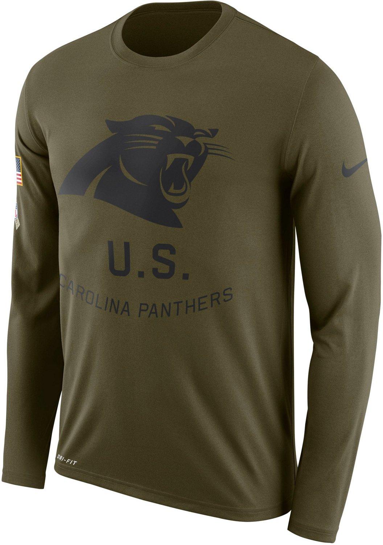 Nike Mens Carolina Panthers Salute To Service Legend Long Sleeve T