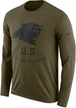 Nike Men's Carolina Panthers Salute to Service Legend Long Sleeve T-shirt
