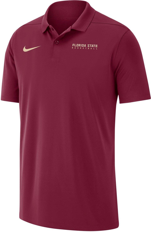 Nike Mens Florida State University Basketball Victory Solid Polo