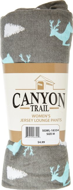 Canyon Trail Women's Reindeer Night Cotton Jersey Lounge Pants