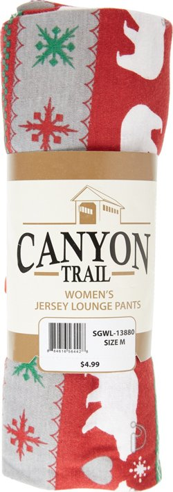 Canyon Trail Women's Polar Holiday Cotton Jersey Lounge Pants