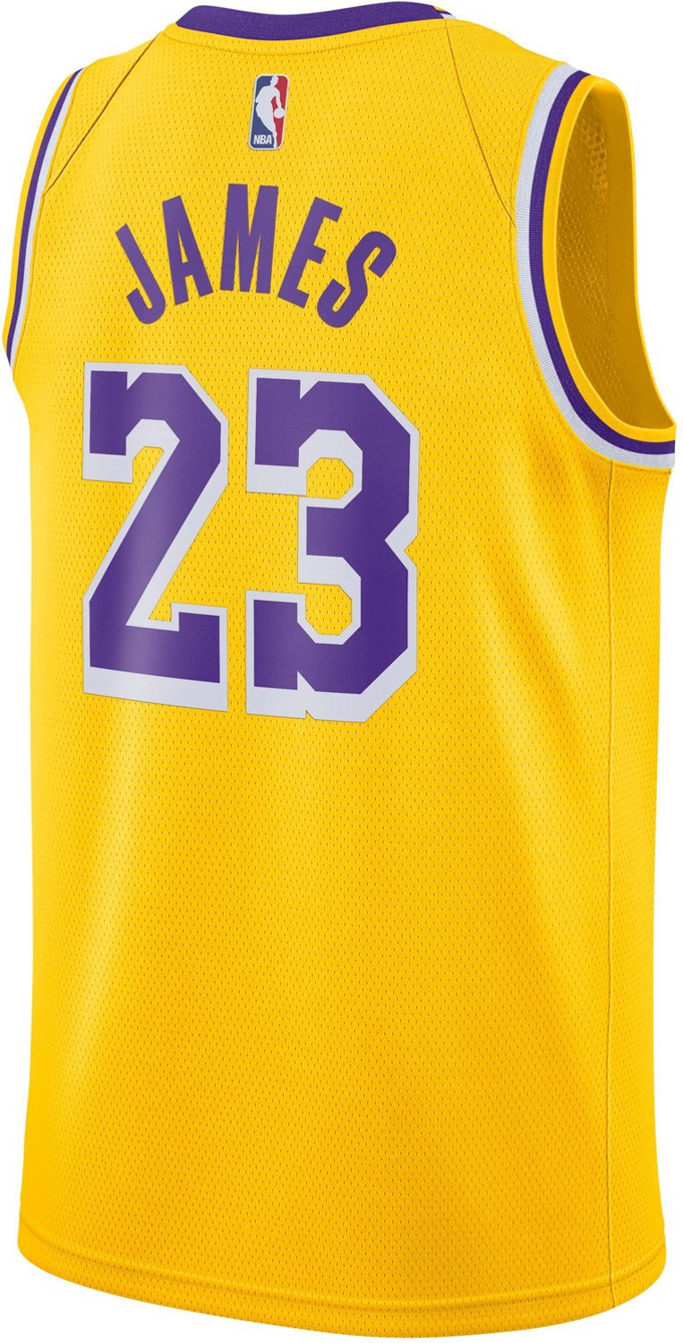 best authentic ab833 ae5bc Nike Men's Los Angeles Lakers LeBron James 23 Icon Edition Swingman Jersey