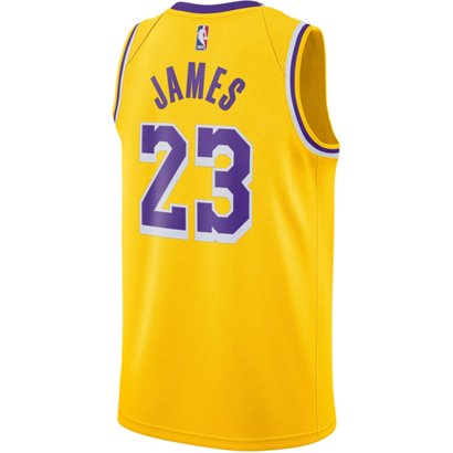 95851f509 ... Nike Men s Los Angeles Lakers LeBron James 23 Icon Edition Swingman  Jersey. LA Lakers Men s Apparel. Hover Click to enlarge