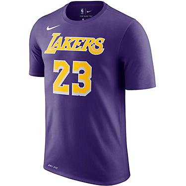 big sale 3a3c7 c6b61 Nike Men's Los Angeles Lakers LeBron James 23 Dri-FIT T-shirt