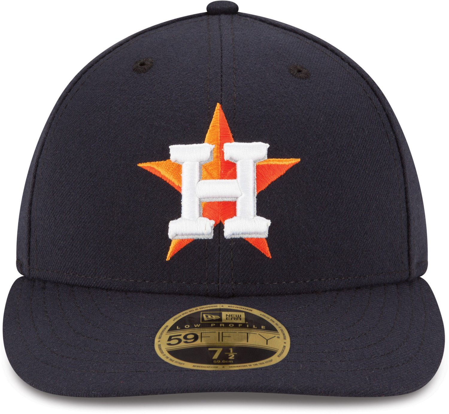 a01196b3aaa New Era Men s Houston Astros Authentic Collection Low Profile 59FIFTY Fitted  Cap