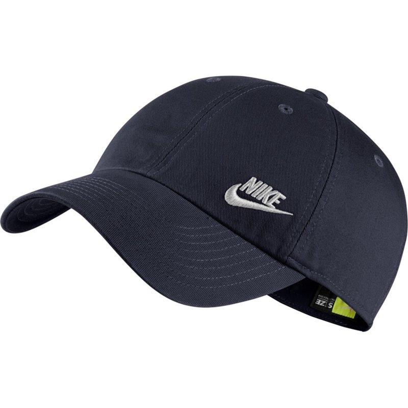 Nike Women s Sportswear Heritage86 Futura Ball Cap (Obsidian White b105ea35a245