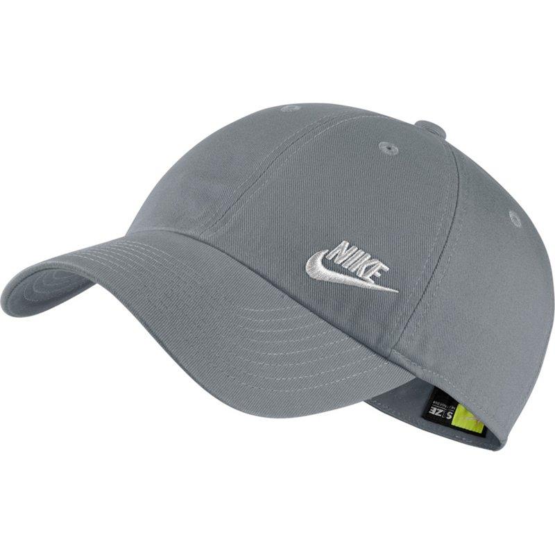 Nike Women s Sportswear Heritage86 Futura Ball Cap (Cool Gray White edda145b8665