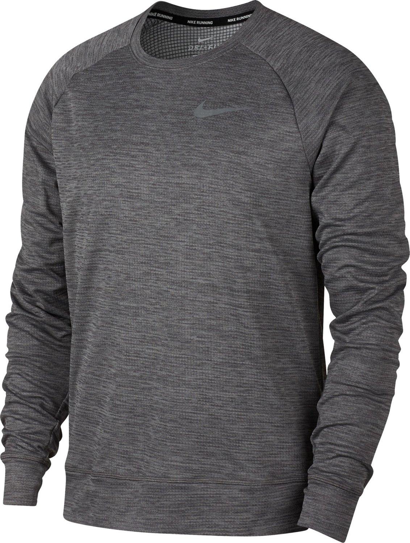 Nike Mens Pacer Plus Long Sleeve Crew Running Shirt Academy