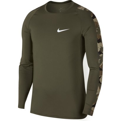 8f094ea85ff6 Nike Men s Pro Long Sleeve Camo T-shirt