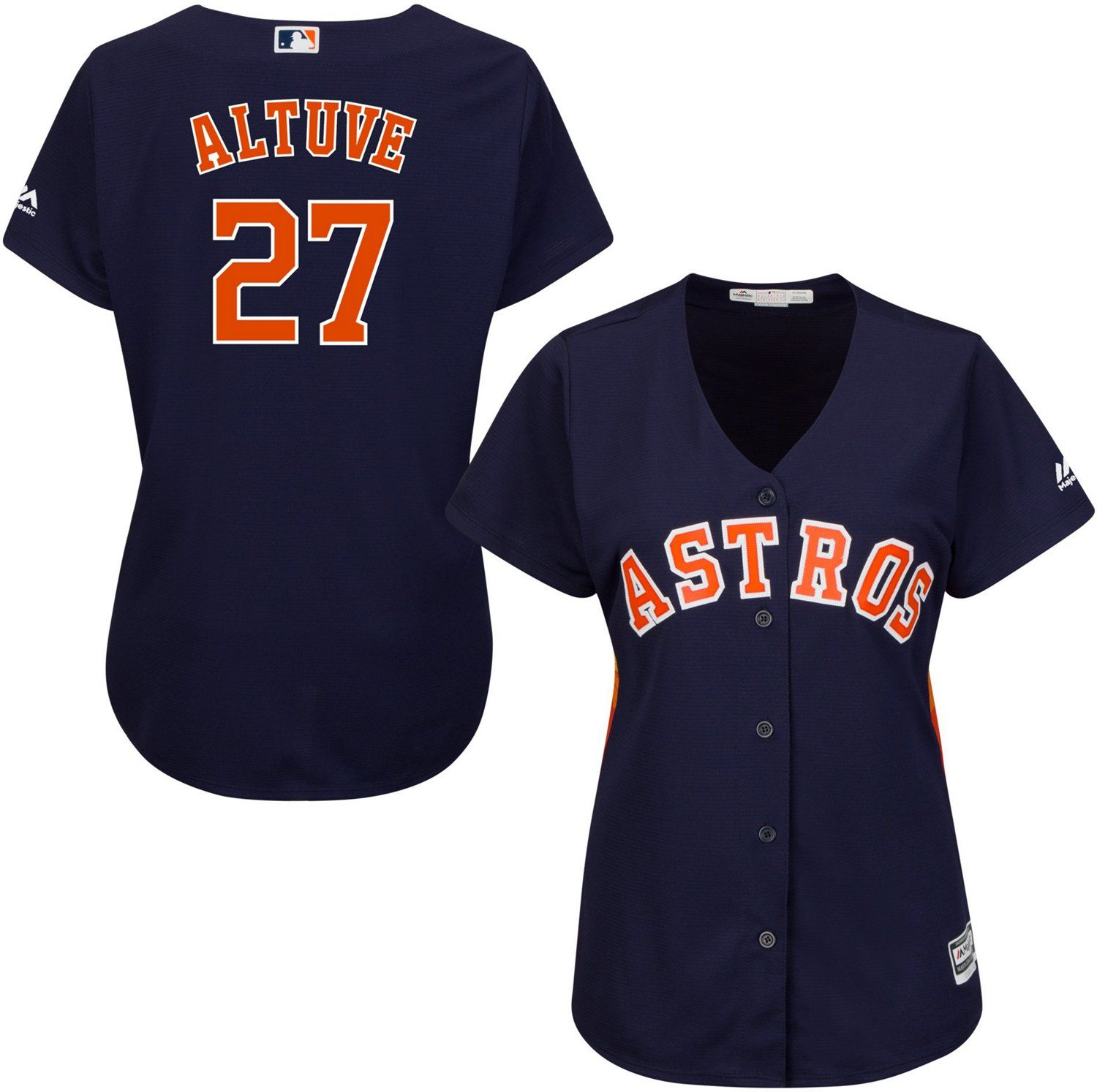promo code c7e3b d21b9 Majestic Women's Houston Astros Jose Altuve 27 COOL BASE Jersey