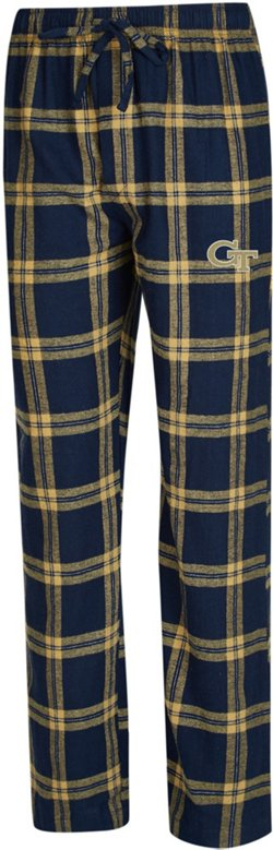 Concepts Sport Men's Georgia Tech Homestretch Flannel Sleep Pants