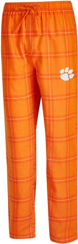Concepts Sport Men's Clemson University Homestretch Flannel Sleep Pants
