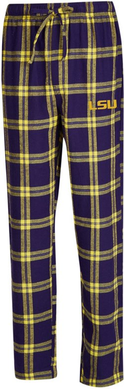 Concepts Sport Men's Louisiana State University Homestretch Flannel Sleep Pants