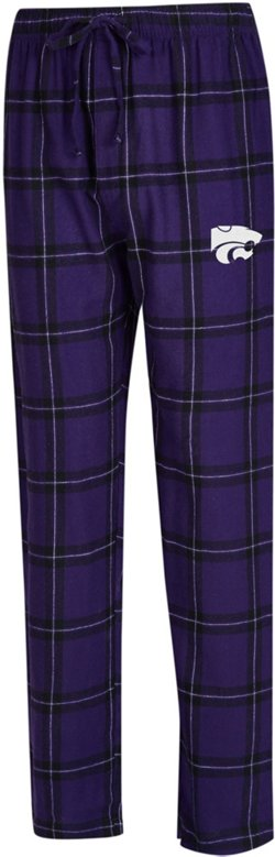 Concepts Sport Men's Kansas State University Homestretch Flannel Sleep Pants