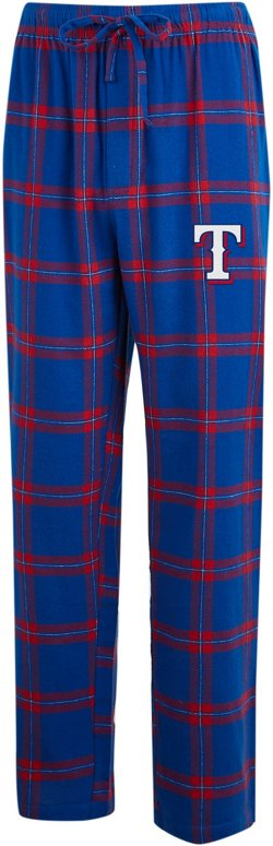 Concepts Sport Men's Texas Rangers Homestretch Flannel Sleep Pants