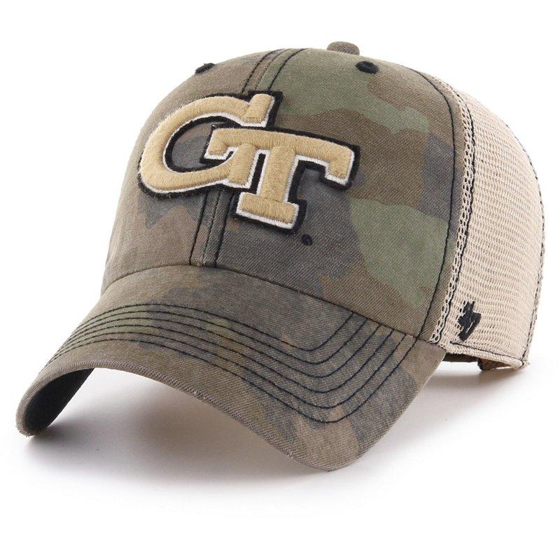 '47 Georgia Tech Burnett Meshback Ball Cap Frontline Green Camo/Dark Khaki/Khaki - NCAA Men's Caps at Academy Sports thumbnail