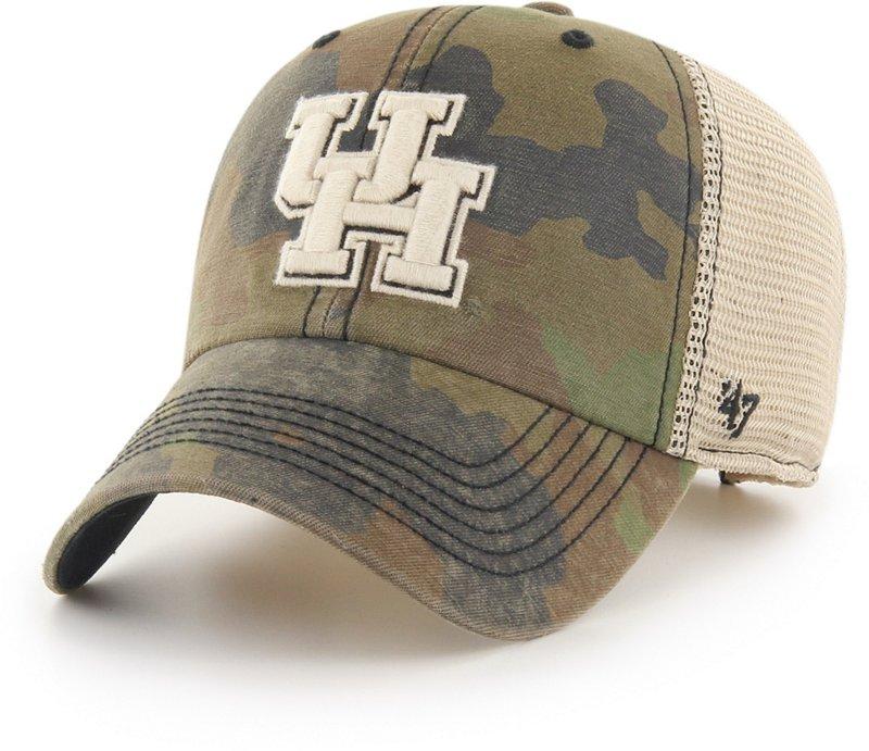 '47 University of Houston Burnett Meshback Ball Cap (Frontline Green Camo/Dark Khaki/Khaki/Black, Size One Size) – NCAA Licensed Product, NCAA Men's Caps at …