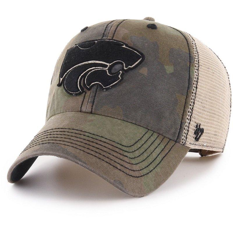 '47 Kansas State University Burnett Meshback Ball Cap Frontline Green Camo/Dark Khaki/Khaki - NCAA Men's Caps at Academy Sports thumbnail