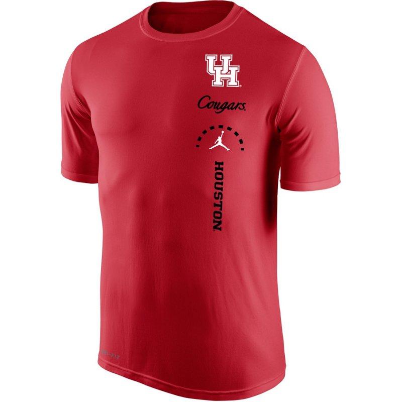 5b937cddacafc0 Jordan Men s University of Houston Training Dri-FIT Legend 2.0 T-shirt Red