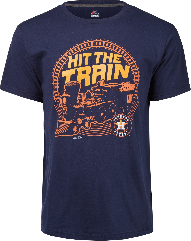 606db4b7b Majestic Men s Houston Astros Hit the Train T-shirt