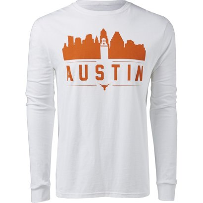 734d8f34cb9 ... University of Texas Skyline Long Sleeve T-shirt. Texas Longhorns  Clothing. Hover Click to enlarge