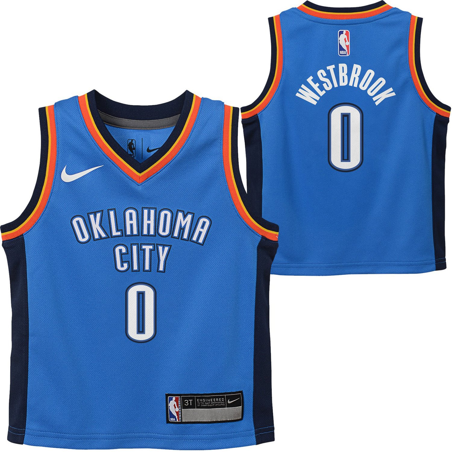 huge discount 50c98 e378c Nike Toddler Boys' Oklahoma City Thunder Russell Westbrook 0 Icon Replica  Jersey