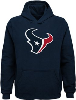 Boys' Houston Texans Primary Logo Fleece Hoodie