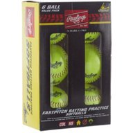Rawlings 12 in Travel Practice Fast-Pitch Softballs 6-Pack