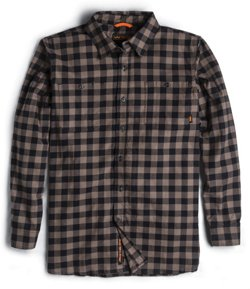 Men's Midweight Stretch Brushed Flannel Shirt
