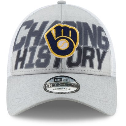 New Era Men s Milwaukee Brewers 9Forty League Division Series ... e2ca73f3efc