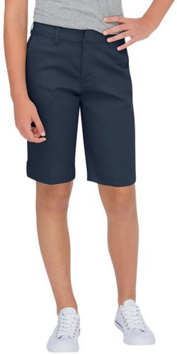 Girls' Schoolwear Classic Fit Bermuda Stretch Twill Shorts