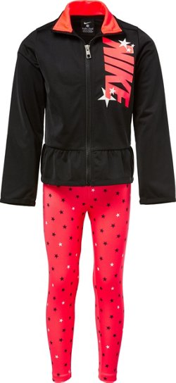 Girls' Tricot AOP Star Jacket and Legging Set