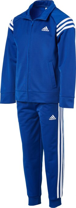 adidas Boys' 4-7 Tricot Jacket and Jogger Pants Set