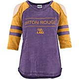 Three Square Women's Louisiana State University Evan Vintage Wash Cold Shoulder T-shirt
