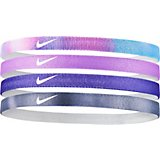 Nike Girls' Printed Headbands 4-Pack