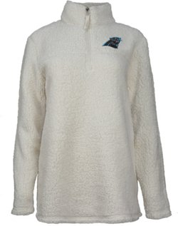 Women's Carolina Panthers 1/4-Zip Sherpa Pullover Jacket