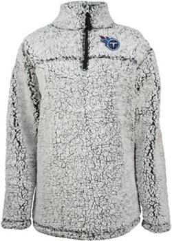 New Era Women's Tennessee Titans 1/4 Zip Sherpa Pullover