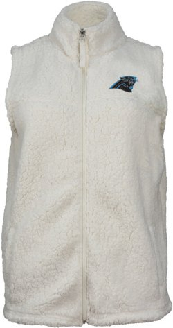 Women's Carolina Panthers Full Zip Sherpa Vest