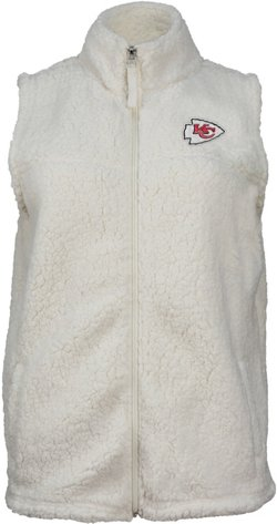 New Era Women's Kansas City Chiefs Full Zip Sherpa Vest