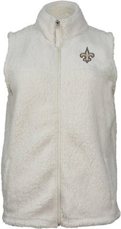 New Era Women's New Orleans Saints Full Zip Sherpa Vest