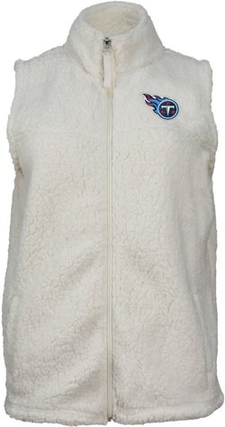 Women's Tennessee Titans Full Zip Sherpa Vest