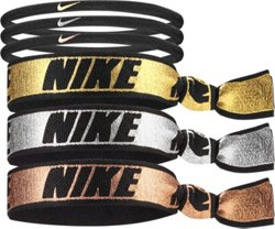 Nike Women's Mixed Metallic Ponytail Holders 6-Pack